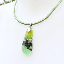 collier en verre kelp jewelry